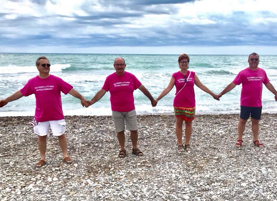 Cadena humana de Compromís per Sagunt a les platges d'Almardà, Corinto i La Malvarrosa