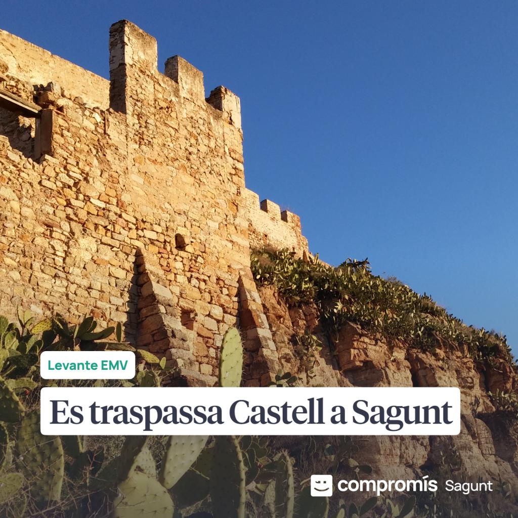 Compromís demana al Senat explicacions sobre l'estat d'abandó del Castell de Sagunt i el seu conjunt arqueològic